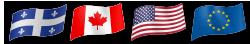 Québec, Canada, USA, France